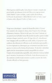 Paroles Matinales: Derriere Les Mots Convenus - 4ème de couverture - Format classique