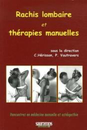 Rachis lombaire et thérapies manuelles - Couverture - Format classique
