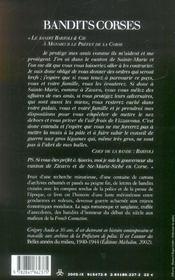 Bandits corses ; des bandits d'honneur au grand banditisme - 4ème de couverture - Format classique