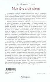 Mon Reve Avait Raison (Ne) (édition 2003) - 4ème de couverture - Format classique