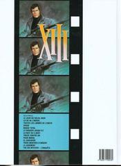XIII t.4 ; spads - 4ème de couverture - Format classique