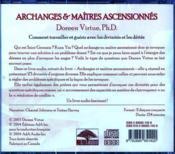 Archanges et maîtres ascensionnés ; comment travailler et guérir avec les divinités et les déités - 4ème de couverture - Format classique