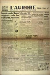 Aurore (L') N°525 du 25/04/1946 - Couverture - Format classique