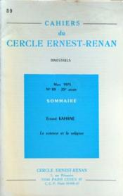 Cahiers Du Cercle Ernest Renan N°89 du 01/03/1975 - Couverture - Format classique