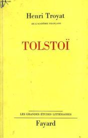 Tolstoï. - Couverture - Format classique