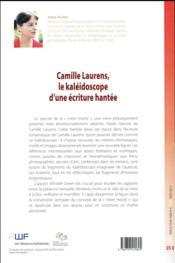 Camille Laurens, le kaléidoscope d'une écriture hantée - 4ème de couverture - Format classique