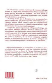 Commerce Et Changement En Angola Au Xxi Siecle ; Imbangala Et Tschokwe Face A La Modernite T.1 - 4ème de couverture - Format classique