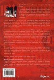 Hold-up à monaco ! - 4ème de couverture - Format classique