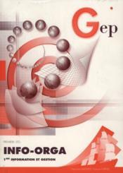 Info Orga ; 1ere ; Gestion Enonce - Couverture - Format classique