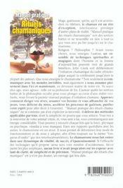 Manuel pratique des rituels chamaniques - 4ème de couverture - Format classique