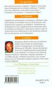 Hormones Vegetales N.48 - 4ème de couverture - Format classique