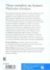 Mieux Connaitre Ses Lecteurs (2e Ed) (2e édition) - 4ème de couverture - Format classique