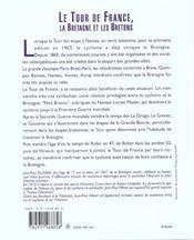 Le Tour De France. La Bretagne Et Les Bretons - 4ème de couverture - Format classique