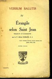 Verbum Salutis Iv. Evangile Selon Saint Jean. - Couverture - Format classique