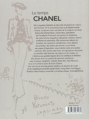 Temps Chanel (Le) - 4ème de couverture - Format classique