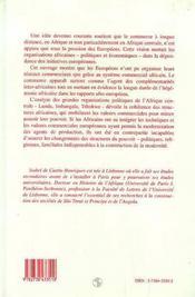 Commerce Et Changement En Angola Au Xxi Siecle ; Imbangala Et Tschokwe Face A La Modernite T.2 - 4ème de couverture - Format classique