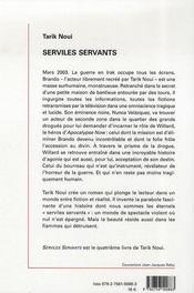Serviles servants - 4ème de couverture - Format classique