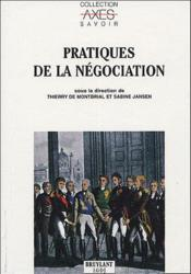 Pratiques de la negociation - Couverture - Format classique