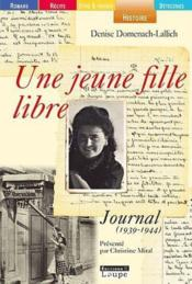 Une jeune fille libre ; journal (1939-1944) - Couverture - Format classique