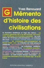 Memento D'Histoire Des Civilisations - Intérieur - Format classique