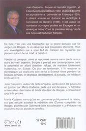 La Depouille De Borges ; Vingt Ans Apres Sa Mort Les Mysteres Demeurent - 4ème de couverture - Format classique
