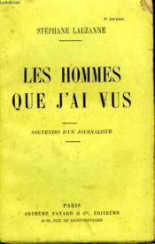 Les Hommes Que J'Ai Vus. - Couverture - Format classique
