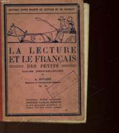 La Lecture Et Le Francais Des Petits - Cours Preparatoire - Couverture - Format classique
