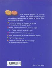Cookies 50 Activites Ludiques Pour Bien Debuter En Anglais - 4ème de couverture - Format classique