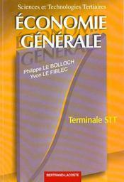 Economie generale terminale stt - Intérieur - Format classique