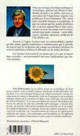 L'Ecologie, Cle De La Politique - 4ème de couverture - Format classique