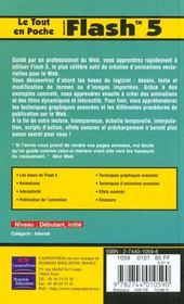 Flash 5. Macromedia - 4ème de couverture - Format classique