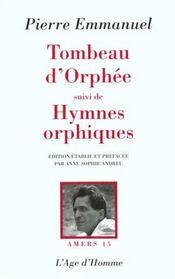 Tombeau D'Orphee - Intérieur - Format classique