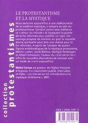 Le Protestantisme Et La Mystique - 4ème de couverture - Format classique