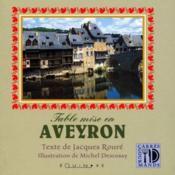 Table mise en Aveyron - Couverture - Format classique