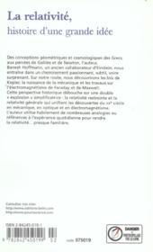 La Relativite Ne - 4ème de couverture - Format classique