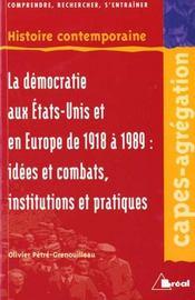 Democraties occidentales 1918-1989 - Intérieur - Format classique