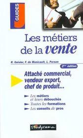 Les metiers de la vente ; 2e edition - Intérieur - Format classique