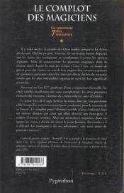 La cour. 7 roy. t1-le complot des magiciens - 4ème de couverture - Format classique
