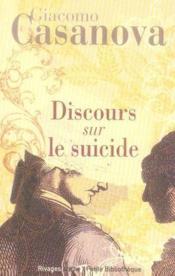Dialogues sur le suicide - Couverture - Format classique