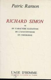 Richard Simon - Couverture - Format classique
