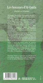 Les hommes d'Al-Qaïda ; discours et stratégie - 4ème de couverture - Format classique