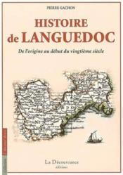 Hisoitoire Du Languedoc - Couverture - Format classique