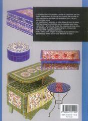 La mosaique ; technique picassiette - 4ème de couverture - Format classique