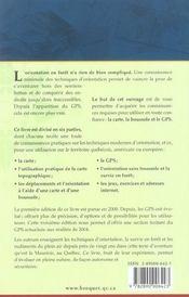 Cartes Boussoles Et Gps 3 Edt - 4ème de couverture - Format classique