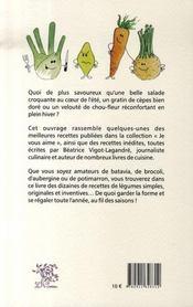 Légumes, je vous aime... - 4ème de couverture - Format classique