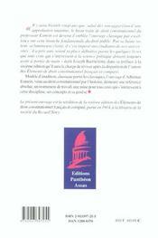 Elements De Droit Constitutionnel Francais Et Compare - 4ème de couverture - Format classique