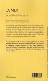 La Mer - 4ème de couverture - Format classique