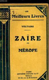 Zaire - Merope - Couverture - Format classique