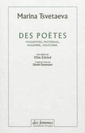 Des poètes - Couverture - Format classique