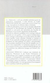 Virologie Medicale - 4ème de couverture - Format classique